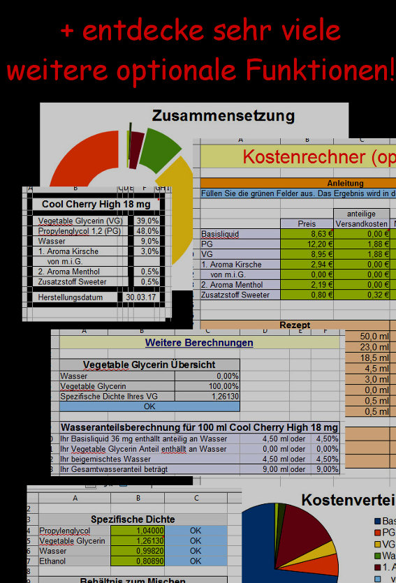 Programm-Vorschau Liquidrechner fuer E-Zigaretten