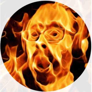 Brennende Platte